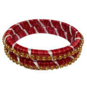 Red and Stone Bangle